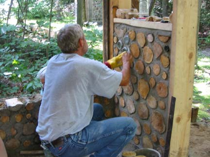 Cordwood House Plans on  www.daycreek.com | The Nauhaus Idea Repository